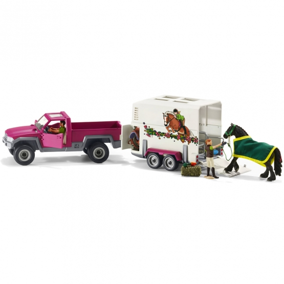 Schleich Pick-Up with Horse Trailer