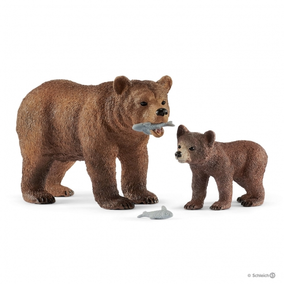 Schleich Grizzly Bear Mother with young