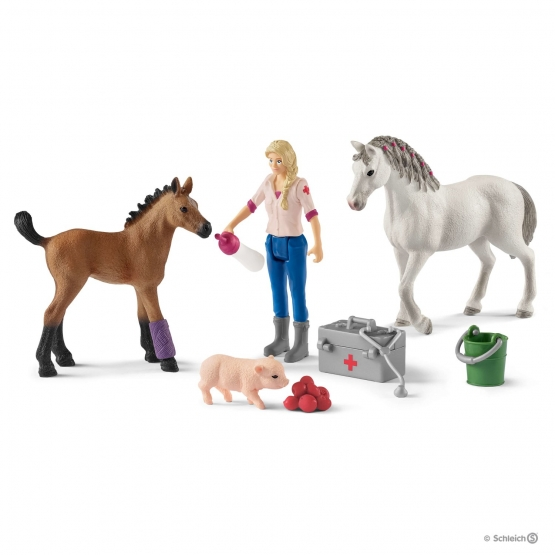 Schleich Doctor's visit to mare and foal