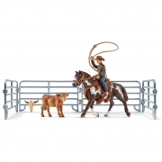 Schleich Team Roping with Cowboy